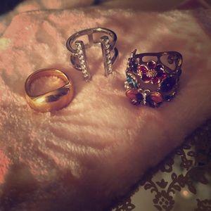 Set of 3 fashion rings